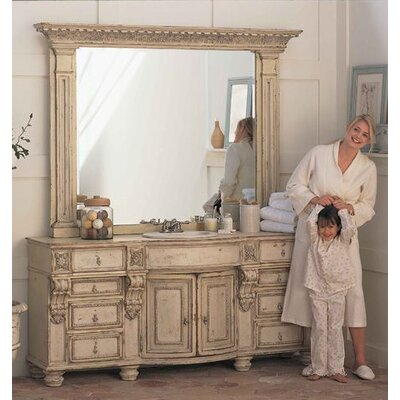 Stafford Double Bathroom Vanity Set with Drawer Finish: Connoisseur/Classic White, Accent: Champagne