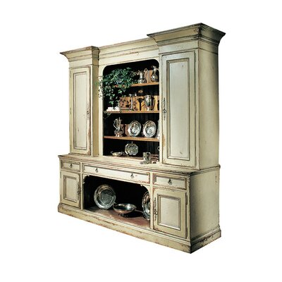 Sussex China Cabinet Color: Classic Studio/Antique Honey, Accent: Gold