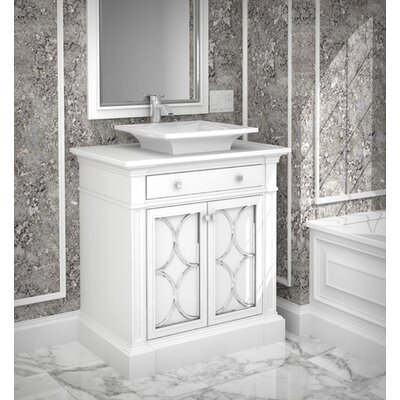 Bahama 40 Single Bathroom Vanity Set Finish: Connoisseur/Muslin, Accent: Silver