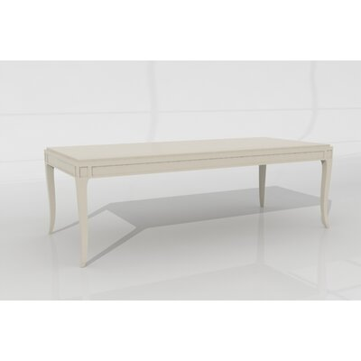 Louvre Dining Table Color: Connoisseur/Classic White, Accent: Gold