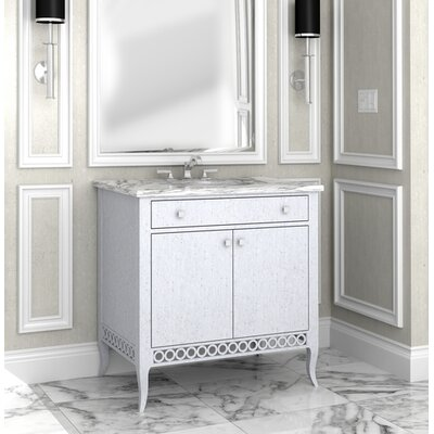 Naples 38 Single Bathroom Vanity Set Finish: Classic Studio/Empire, Accent Color: Silver