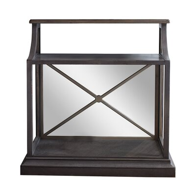 Chelsea End Table with Antique Mirror Color: Connoisseur/Tricorn Black, Accent: Gold