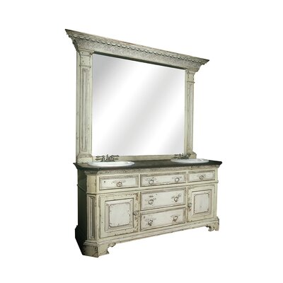 Central Park 71 Double Bathroom Vanity Set Finish: Classic Studio/Graystone, Accent: Champagne