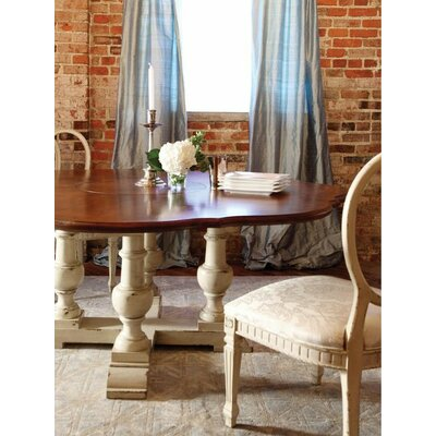 Somerville Dining Table Color: Connoisseur/Classic White, Accent: Champagne