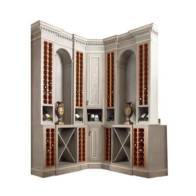 Sonoma Corner Bar Cabinet Color: Connoisseur/Tricorn Black, Accent: Champagne