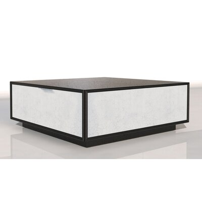 Oslo Coffee Table Color: Connoisseur/Tricorn Black, Accent Color: Silver