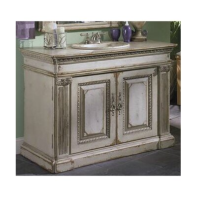 Classical 48 Single Bathroom Vanity Set Finish: Classic Studio/Warm Silver, Accent: Gold