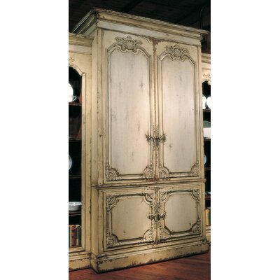 Bordeaux Unit 62 Entertainment Center Color: Connoisseur/Classic White, Accent: Silver