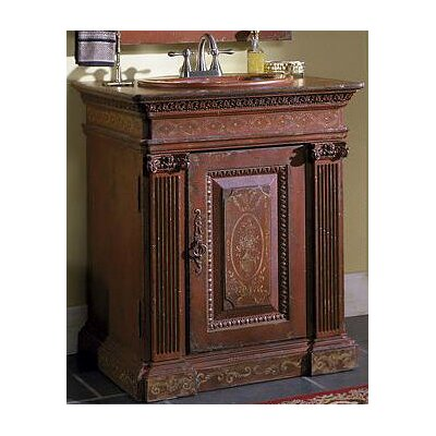 Classical 30 Single Bathroom Vanity Set Finish: Classic Studio/Antique Honey, Accent: Gold