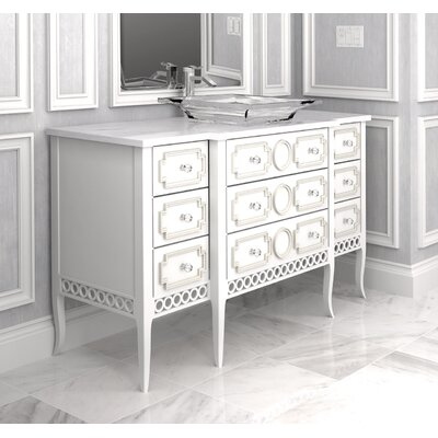 Provence 50 Single Bathroom Vanity Set Finish: Classic Studio/Graystone, Accent Color: Champagne