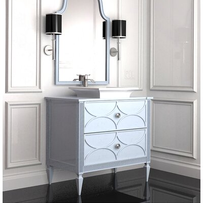 Crownpoint 32 Single Bathroom Vanity Set Finish: Classic Studio/Sandemar, Accent: Silver