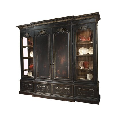 Saint Julian 123 Entertainment Center Color: Classic Studio/Antique Honey, Accent: Silver