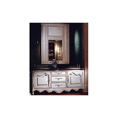 Lyon 77 Double Bathroom Vanity Set Finish: Classic Studio/Antique Honey, Accent: Champagne