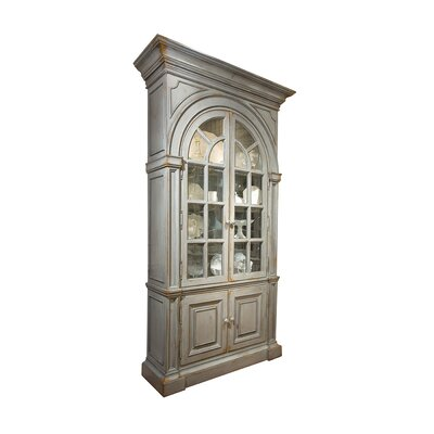 Moseley China Cabinet Color: Classic Studio/Graystone, Accent: Silver