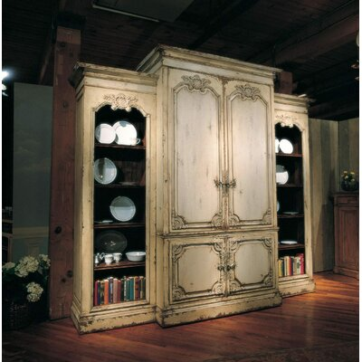 Bordeaux 119 Entertainment Center Color: Connoisseur/Classic White, Accent: Silver