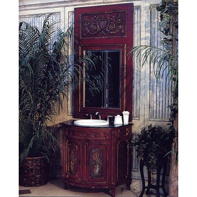 Les Fleurs Commode 37 Single Bathroom Vanity Set Finish: Connoisseur/Devonshire, Accent: Champagne