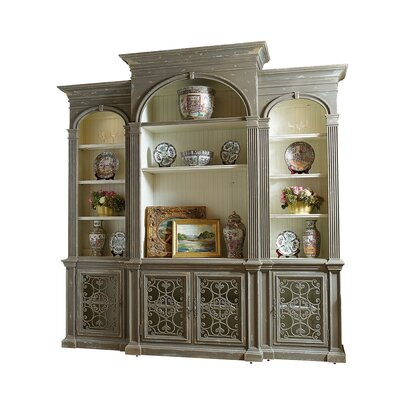 Biltmore Overlook Arch 118 Entertainment Center Color: Classic Studio/Graystone, Accent: Gold