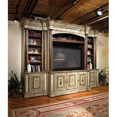 Excelsior 145 Entertainment Center Color: Classic Studio/Antique Honey, Accent: Silver