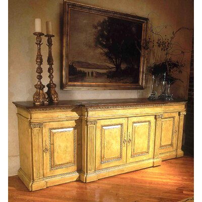 Classic 107 TV Stand with Lift Color: Classic Studio/Antique Honey, Accent: Gold