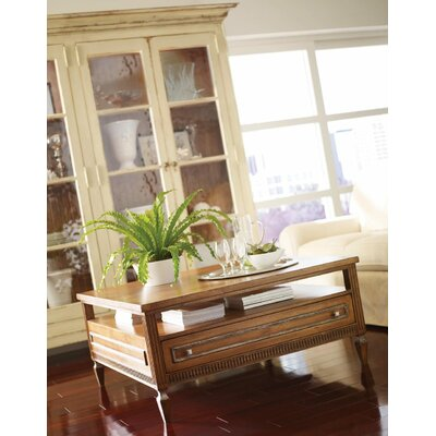 Bennington Coffee Table with Storage Color: Connoisseur/Devonshire, Accent: Silver