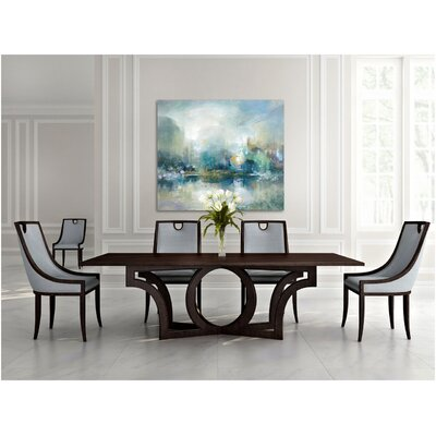 Milano Dining Table Color: Connoisseur/Tricorn Black, Accent: Silver