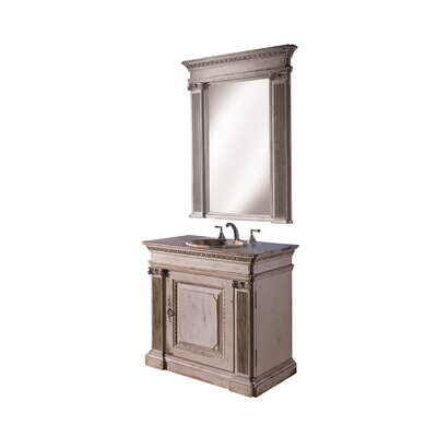 Classical 36 Single Bathroom Vanity Set Finish: Connoisseur/Classic White, Accent: Silver