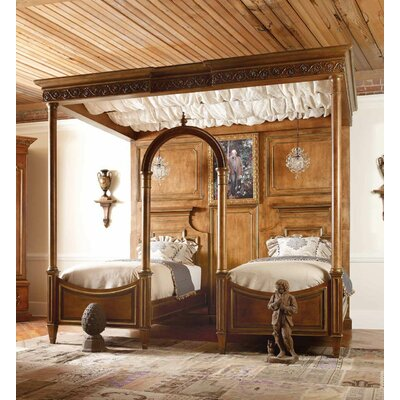 Biltmore Cornelias Cloister Canopy Bed Color: Classic Studio/Antique Honey, Accent: Silver