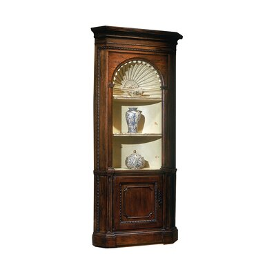 Preston Corner China Cabinet Color: Classic Studio/Brittany, Accent: Silver