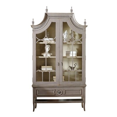 Grand Palais China Cabinet Color: Connoisseur/Muslin, Accent: Silver