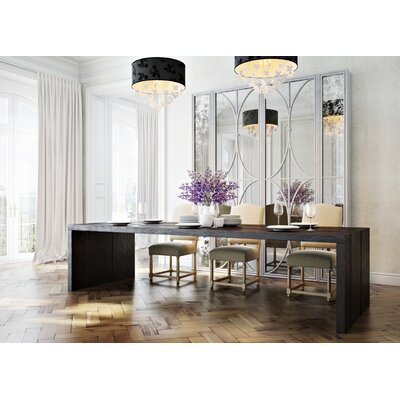 Cascade Dining Table Color: Classic Studio/Antique Honey, Accent: Champagne