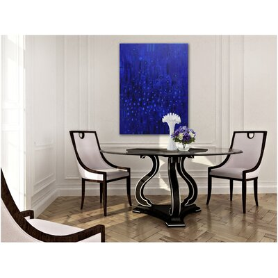 Capri Dining Table with Wood Top Color: Connoisseur/Muslin, Accent: Silver