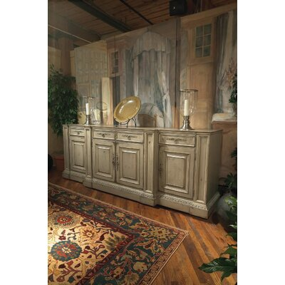 Biltmore - The Billiard Room 114 TV Stand with Lift Color: Connoisseur/Muslin, Accent: Silver