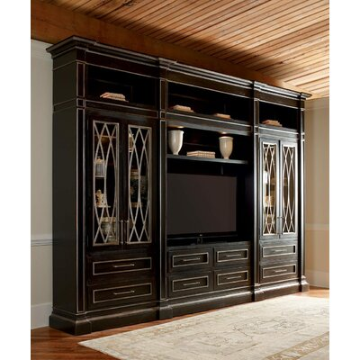 Urban 159 Entertainment Center Color: Connoisseur/Tricorn Black, Accent: Silver