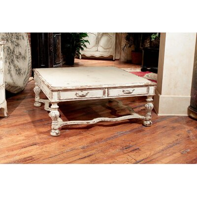 Claremont Coffee Table Color: Connoisseur/Classic White, Accent: Silver