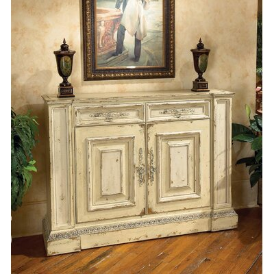 Biltmore - The Billiard Room 58 TV Stand with Lift Color: Connoisseur/Classic White, Accent: Champagne