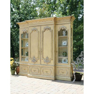 Biltmore - Vanderbilt Grand 115 Entertainment Center Color: Connoisseur/Classic White, Accent: Gold
