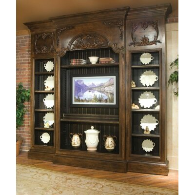 Berkshire 122 Entertainment Center Color: Classic Studio/Graystone, Accent: Gold