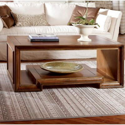 Moderne Coffee Table Color: Classic Studio/Antique Honey, Accent Color: Gold