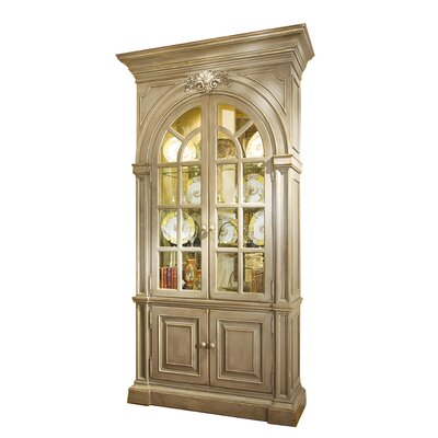 Shantelle China Cabinet with Mirrored Back Color: Classic Studio/Antique Honey, Accent: Silver