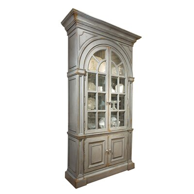 Moseley China Cabinet with Mirrored Back Color: Connoisseur/Tricorn Black, Accent: Gold