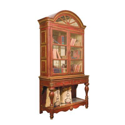 Savannah on Stand China Cabinet Color: Classic Studio/Brittany, Accent: Gold
