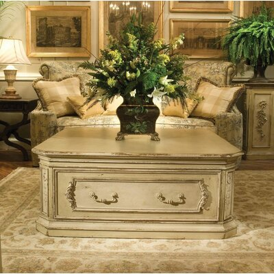 Biltmore Pembroke Coffee Table with Storage Color: Connoisseur/Classic White, Accent: Silver