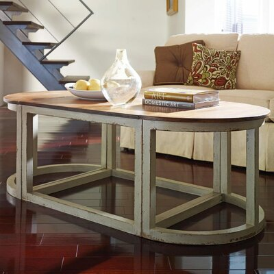 Sectional Coffee Table Color: Classic Studio/Antique Honey, Accent Color: Silver