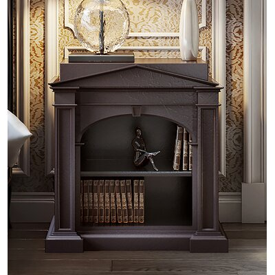 Classical Arched Nightstand Color: Connoisseur/Tricorn Black, Accent: Silver
