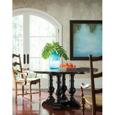 Sausalito Dining Table Color: Connoisseur/Muslin, Accent: Silver