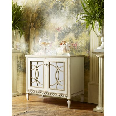 Infinity 2 Door 38 Bathroom Vanity Finish: Classic Studio/Antique Honey, Accent: Silver