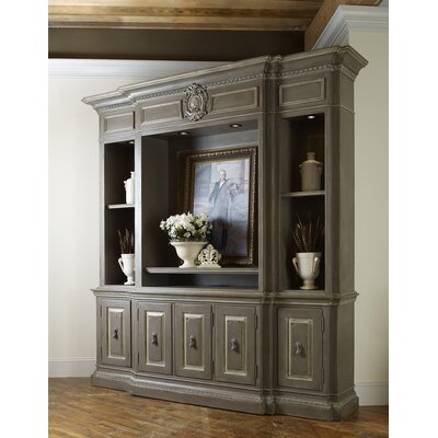 Biltmore - Olmsted 100 Entertainment Center Color: Classic Studio/Graystone, Accent: Gold