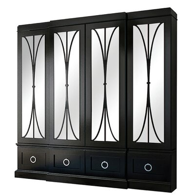 Astoria China Cabinet Color: Connoisseur - Tricorn Black, Accents: Gold