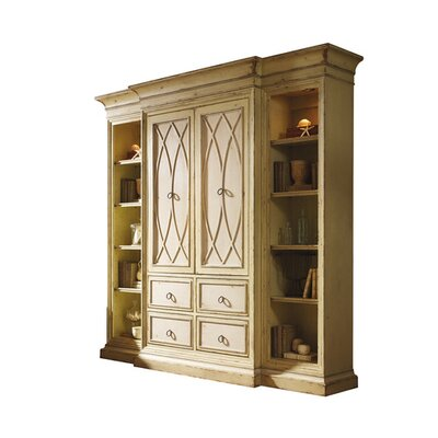 Entertainment Center Color: Connoisseur - Classic White, Accents: Gold