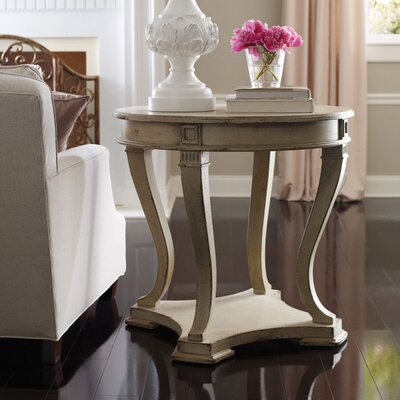 Crownpoint End Table Color: Connoisseur - Tricorn Black/Champagne